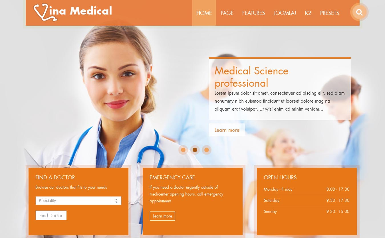 Joomla Medical Template Free | Vina Medical Ii Documentation By Vinagecko V1 1