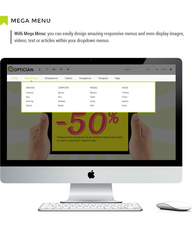 Vina Optician - Premium eCommerce Joomla Template - 9