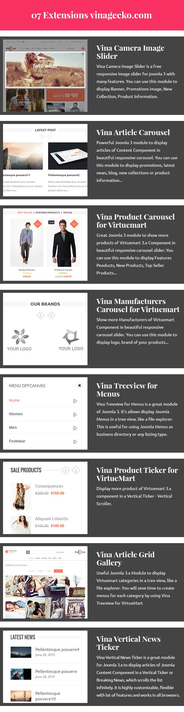 Vina Rubela - Multipurpose VirtueMart Joomla Template - 13