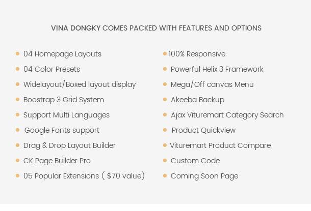 Vina Dongky - Clean & Minimal VirtueMart Joomla Template - 14
