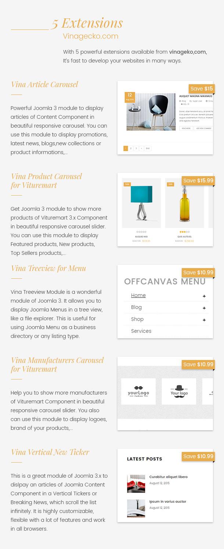 Vina Dongky - Clean & Minimal VirtueMart Joomla Template - 20