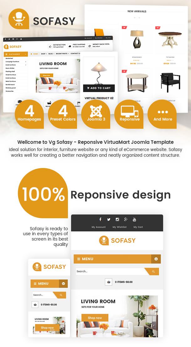 Vina Sofasy - Responsive VirtueMart Joomla Template - 1